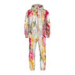 Colorful Floral Collage Hooded Jumpsuit (Kids)