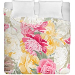 Colorful Floral Collage Duvet Cover (king Size)