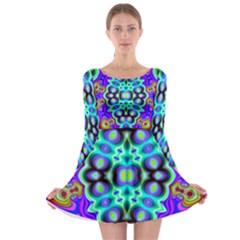 Bent Alv Psy 517bdegh Long Sleeve Skater Dress