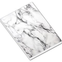White Marble Stone Print Large Memo Pads