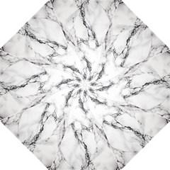 White Marble Stone Print Golf Umbrellas