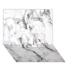White Marble Stone Print LOVE 3D Greeting Card (7x5)