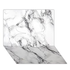 White Marble Stone Print Clover 3d Greeting Card (7x5)