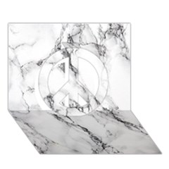 White Marble Stone Print Peace Sign 3D Greeting Card (7x5)
