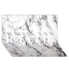 White Marble Stone Print BEST SIS 3D Greeting Card (8x4)