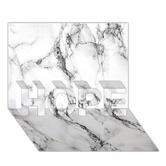 White Marble Stone Print Hope 3d Greeting Card (7x5)