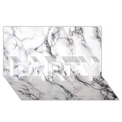 White Marble Stone Print PARTY 3D Greeting Card (8x4)
