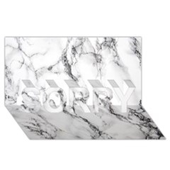 White Marble Stone Print SORRY 3D Greeting Card (8x4)