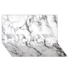 White Marble Stone Print ENGAGED 3D Greeting Card (8x4)
