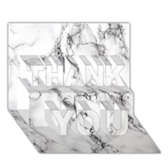 White Marble Stone Print THANK YOU 3D Greeting Card (7x5)