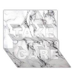 White Marble Stone Print TAKE CARE 3D Greeting Card (7x5)