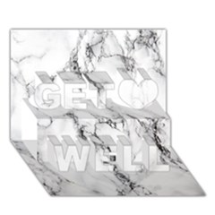 White Marble Stone Print Get Well 3d Greeting Card (7x5)