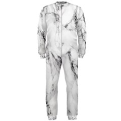 White Marble Stone Print Onepiece Jumpsuit (men)