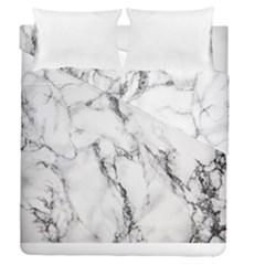White Marble Stone Print Duvet Cover (full/queen Size)