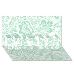 Mint Green And White Baroque Floral Pattern Best Bro 3d Greeting Card (8x4)