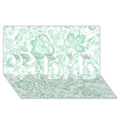 Mint green And White Baroque Floral Pattern #1 DAD 3D Greeting Card (8x4)