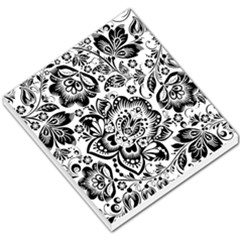 Black Floral Damasks Pattern Baroque Style Small Memo Pads