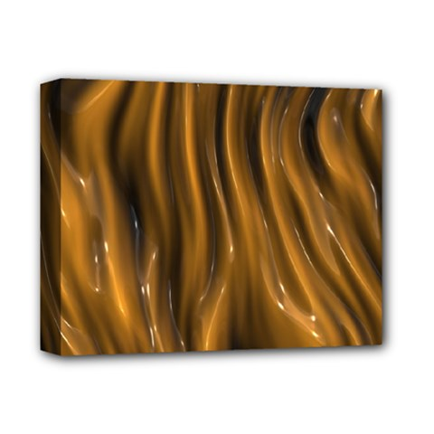 Shiny Silk Golden Deluxe Canvas 14  x 11