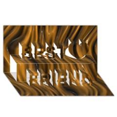 Shiny Silk Golden Best Friends 3D Greeting Card (8x4)