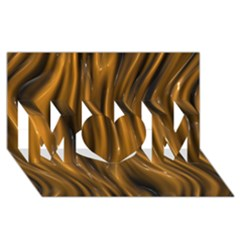 Shiny Silk Golden MOM 3D Greeting Card (8x4)