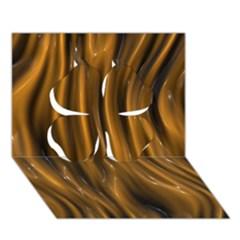Shiny Silk Golden Clover 3D Greeting Card (7x5)
