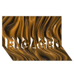 Shiny Silk Golden Engaged 3d Greeting Card (8x4)