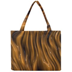 Shiny Silk Golden Tiny Tote Bags