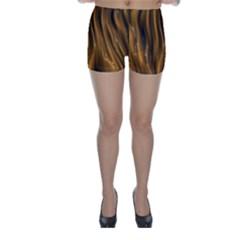 Shiny Silk Golden Skinny Shorts