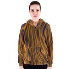 Shiny Silk Golden Women s Zipper Hoodies