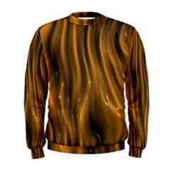 Shiny Silk Golden Men s Sweatshirts