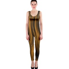 Shiny Silk Golden OnePiece Catsuits