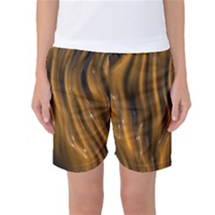 Shiny Silk Golden Women s Basketball Shorts