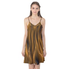 Shiny Silk Golden Camis Nightgown