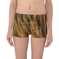 Shiny Silk Golden Reversible Boyleg Bikini Bottoms