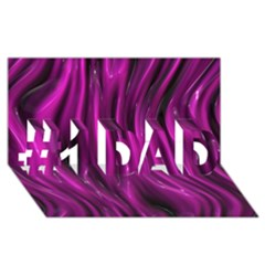 Shiny Silk Pink #1 DAD 3D Greeting Card (8x4)