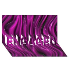 Shiny Silk Pink Engaged 3d Greeting Card (8x4)