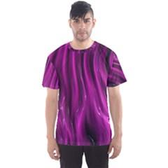 Shiny Silk Pink Men s Sport Mesh Tees