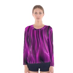 Shiny Silk Pink Women s Long Sleeve T-shirts