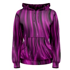 Shiny Silk Pink Women s Pullover Hoodies