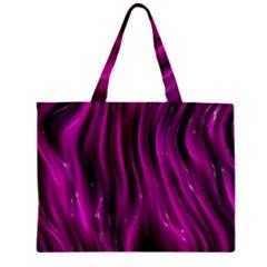 Shiny Silk Pink Zipper Tiny Tote Bags