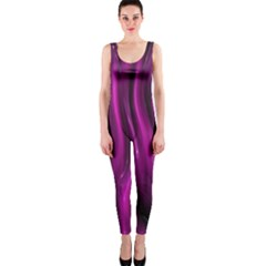 Shiny Silk Pink OnePiece Catsuits