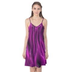 Shiny Silk Pink Camis Nightgown