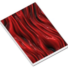 Shiny Silk Red Large Memo Pads
