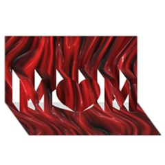 Shiny Silk Red MOM 3D Greeting Card (8x4)