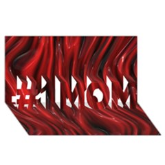 Shiny Silk Red #1 MOM 3D Greeting Cards (8x4)