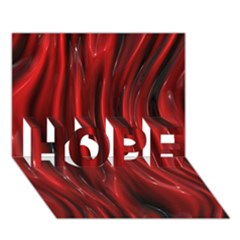 Shiny Silk Red Hope 3d Greeting Card (7x5)