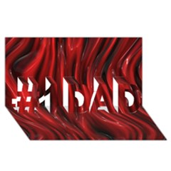 Shiny Silk Red #1 Dad 3d Greeting Card (8x4)