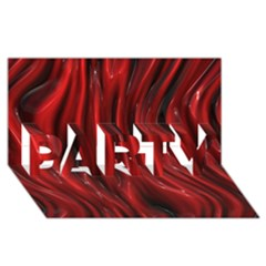 Shiny Silk Red PARTY 3D Greeting Card (8x4)