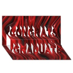 Shiny Silk Red Congrats Graduate 3d Greeting Card (8x4)