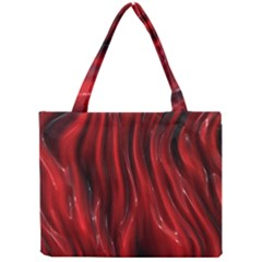 Shiny Silk Red Tiny Tote Bags